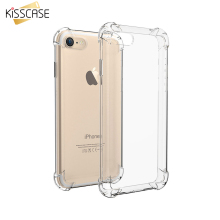 KISSCASE Clear Anti-knock Soft Silicone Case For iPhone 7 Plus 6 6S 5S Galaxy S7 Edge Transparent Shockproof Cover