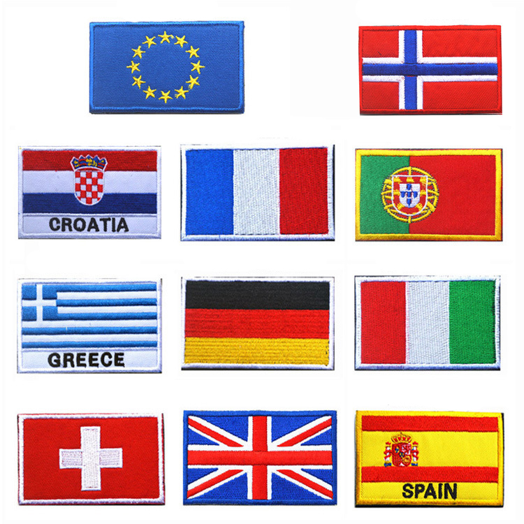 Вышивки флагов стран