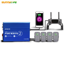 DJI MAVIC 2 PRO & ZOOM Drone 용 USB 슈퍼 충전 스테이션 배터리 충전기 허브가있는 6 IN 1 원격 홈 충전기