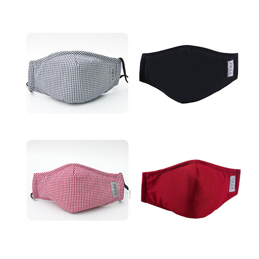New Cotton PM2.5 Washable Mouth Mask Anti Haze Dust Mask Nose Filter Windproof Face Muffle Bacteria Flu Fabric Cloth Respirator