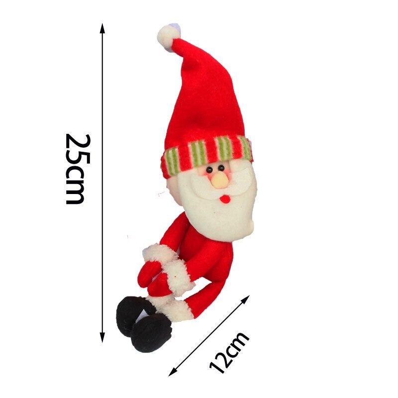 3 Adet / takım Noel Noel Baba enfeites de natal Kırmızı yüksek - Tatiller ve Partiler Için - Fotoğraf 3
