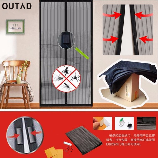 OUTAD Delicate Summer Mosquito Net Curtain Magnets Door Mesh Prevent Insect Fly Bug Mosquito Door Curtain Net Netting  Screen