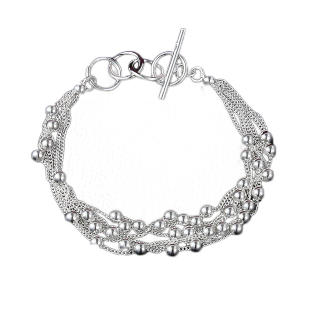 Women Winter New Fashion Grape Chain Bracelets Silver Color Bead Vintage Bangles Quality Fine Jewelry Trendy Gifts