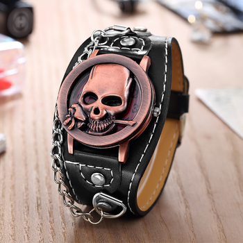 Unique Skull Quartz Punk Watch 1
