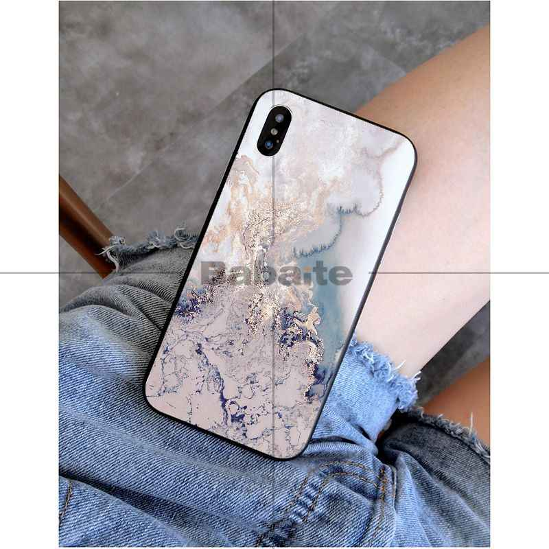 Cubierta de teléfono de diseño único de lujo de pintura de mármol de arte Babaite para iPhone 6 S 6 plus 7 7 plus 8 8 plus X Xs X MAX 5 5S XR