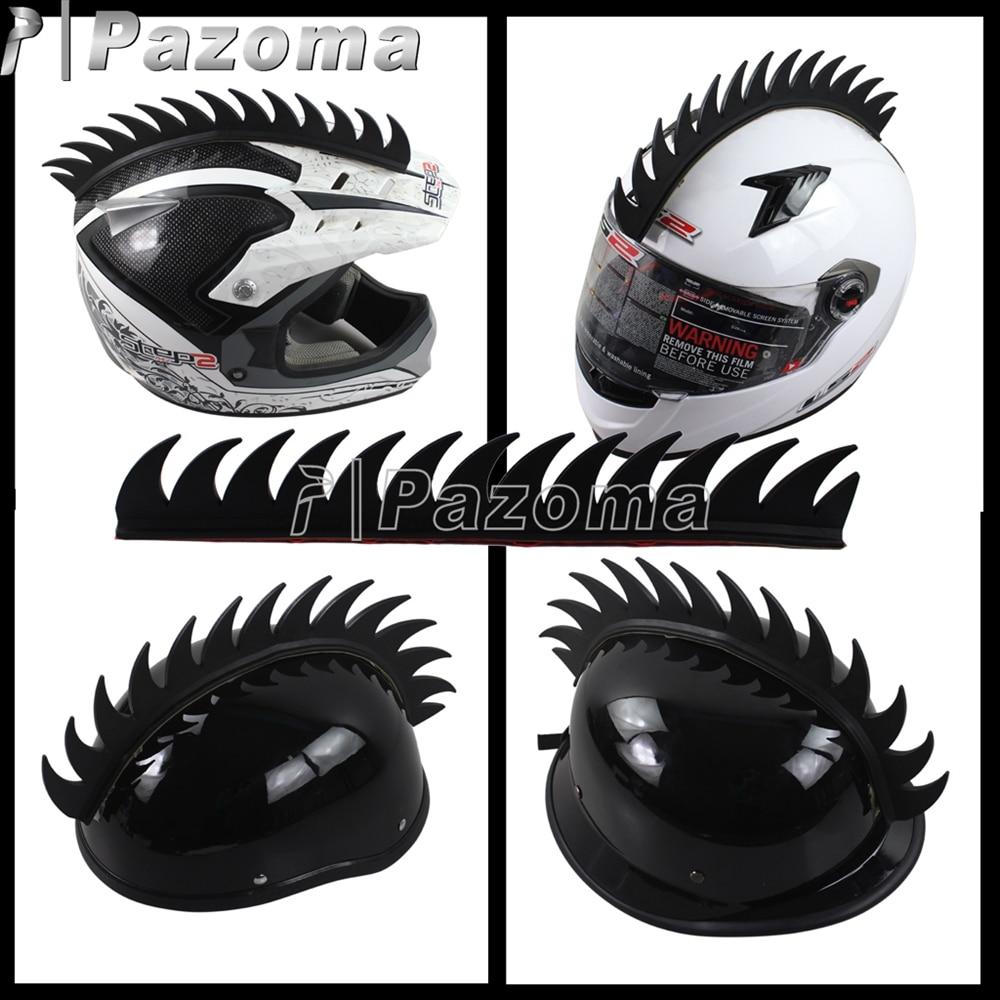 Black motorcycle helmet sticker warhawk spikes mohawks dirt bike 3m rubber stickers decals in decals stickers from automobiles motorcycles on