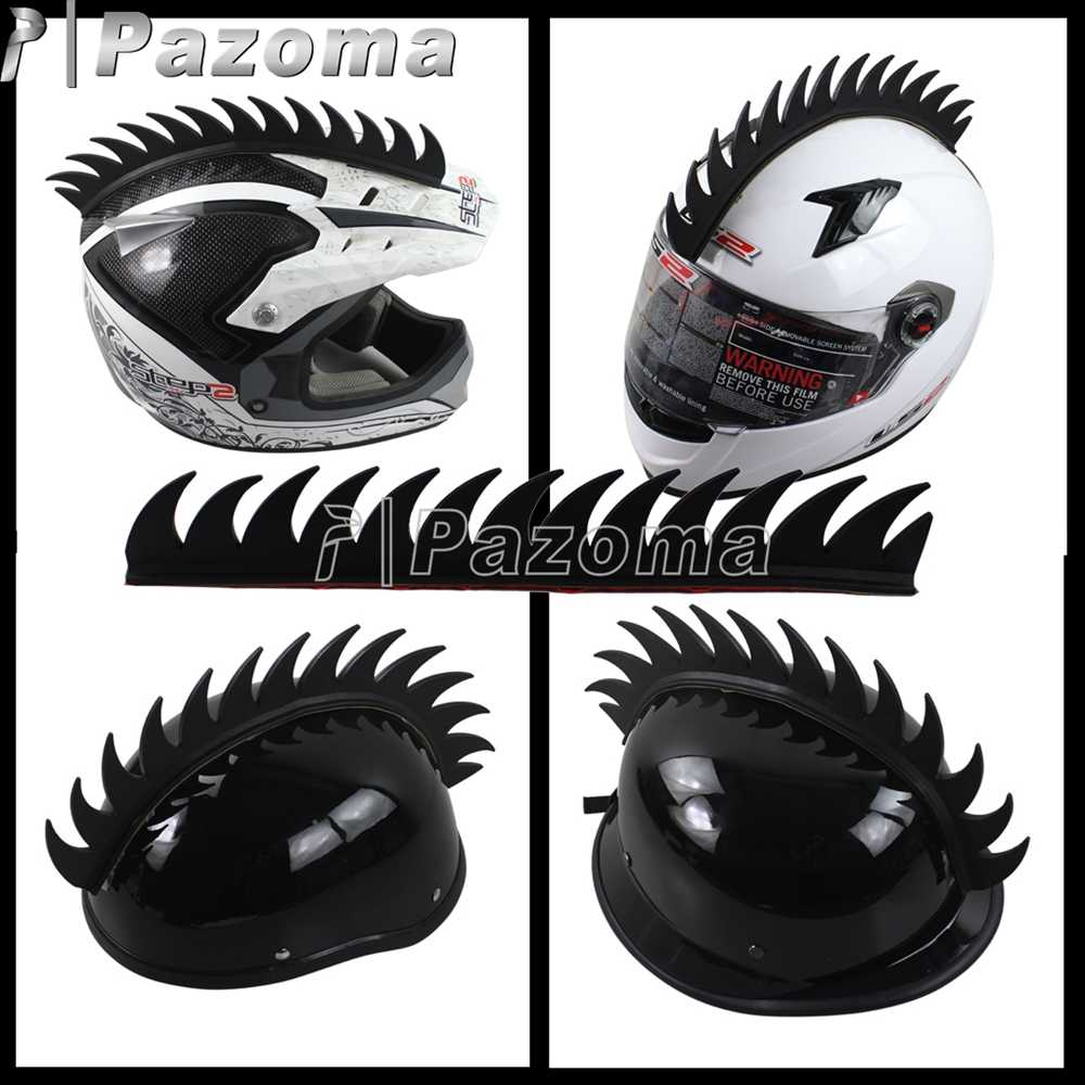 Black motorcycle helmet sticker warhawk spikes mohawks dirt bike 3m rubber stickers decals