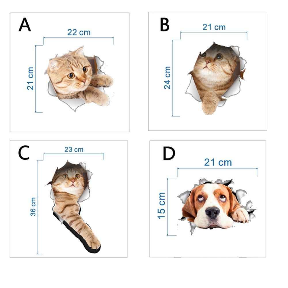 1 Máy Tính 5 Loại Bán 3D Chó Mèo Trang Trí Dán Tường Ghế Ngồi Vệ Sinh Miếng Dán Sinh Động View Phòng Tắm Động Vật Nghệ Thuật tường POSTER