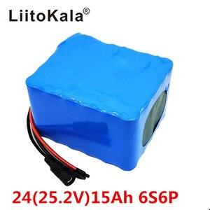 Image 1 - LiitoKala 6S6P 24V 15Ah 25,2 V lithium batterie pack batterien für elektrische motor fahrrad ebike roller rollstuhl abschneider mit BM