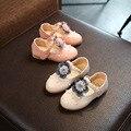 Осенняя обувь для девочек в стиле принцессы  мягкие ботинки сокровище с цветами из жемчуга  модная обувь для девочек  красивая обувь для веч...