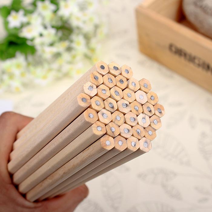 10 lápices hexagonales MADERA ecologica escuela colegio estudiar escribir 7