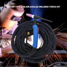 Schweißen Gas Taschenlampe Kit WP 17FV 3,7 mt luftgekühlte Tig WeldingTorch mit Flexible Kopf Körper und Gas Ventil für schweißer