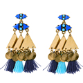 Personalized Women Christmas Earrings New Design Alloy Tassel Big Earrings for Women Ethnic Jewelry