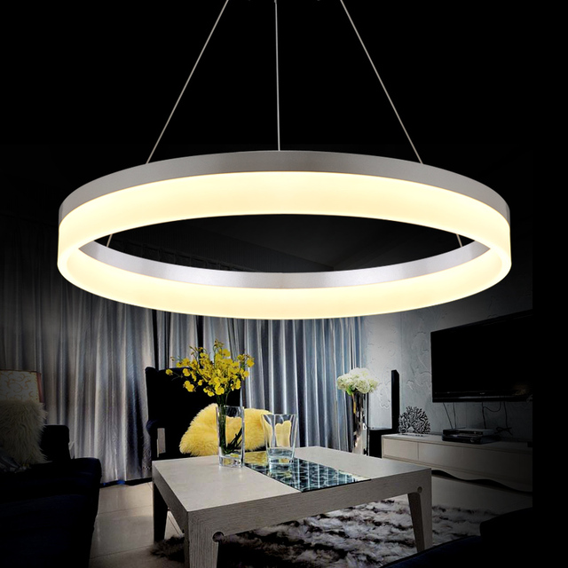 Artistic Lamps And Lanterns Led Pendant Lamp Circle Acrylic Lights For Dining Room Bar Counter