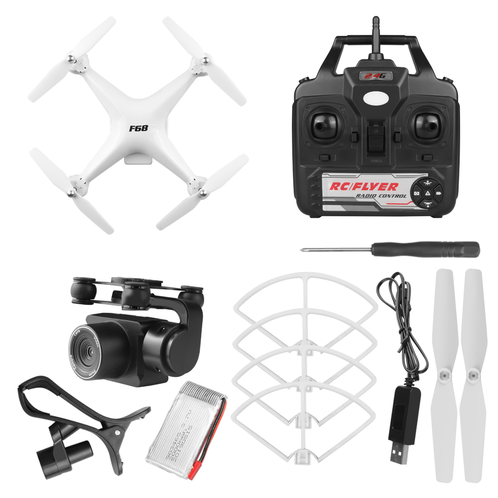 Drone 4k RC Quadcopter drone with HD 1080P Wifi camera video stable Rc helicopter F68 RC drone VS DJI Phantom 4 3 H480