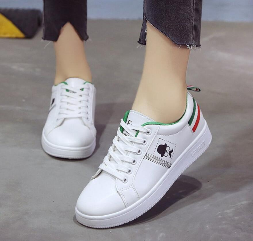 Femmes Plat Mocassins Mujer forme Sneakers Green De white Automne White Ballet Femme Plate Tendance Casual Zapatos Chaussures qF0xnf1F