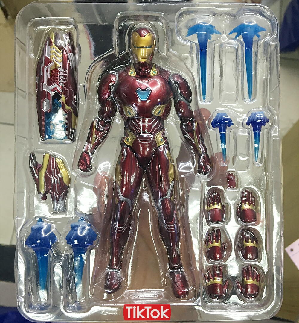 Avengers Infinity War Action Figure – Thanos Iron SpiderMan Iron Man Star Load Black Panther Captain America Black Widow