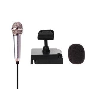 Image 2 - Micrófono Mini PARA karaoke, micrófono portátil con conector Jack de 3,5mm, micrófono para hablar, sonido de música y grabación
