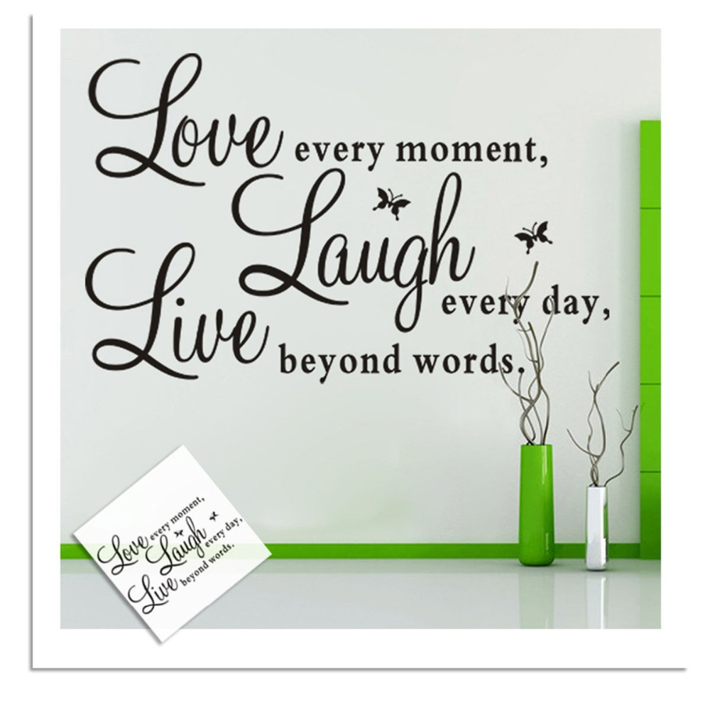 Live Laugh Love Quote Fashion Live Laugh Love Quote Art Vinyl Wall Sticker Wall Decals