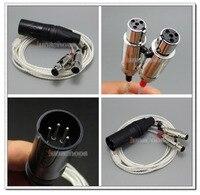 4 Булавки XLR PCOCC + посеребренные 1.3 м 2 m 2. 5 м кабель легкий вес шнур для Audeze LCD-3 LCD3 ЖК-2 ln00 4 7 2 3