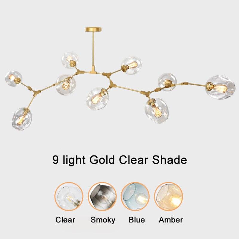Стекло мяч ветвления пузырь люстры подвеска для Обеденная Гостиная современные люстры блеск светодио дный Avize E27 лампа