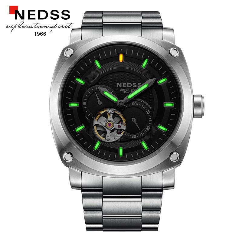 mens watches top brand luxury NEDSS Tritium Gas Luminous men automatic watch 5ATM waterproof mens watch mechanical watches цена 2017