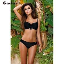 цены на Gacloz Sexy Solid Bikini Dots Set Swimwear Bikinis Women Swimsuits Bathers Brazilian Bathing Suits Women Swimming Suits Biquini  в интернет-магазинах