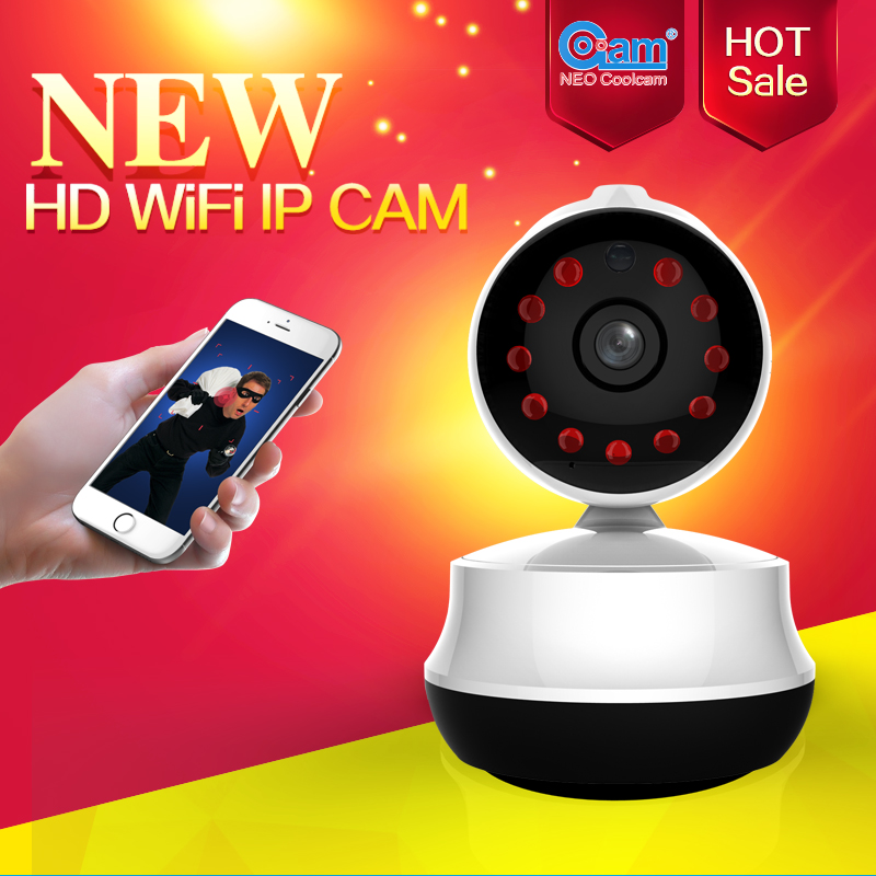 NEO Coolcam NIP-61GE Mini 720P wifi ip camera, Wireless P2P CCTV Network camera and Support TF card, baby monitor and Free APP