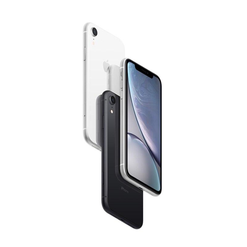 Apple iPhone XR | 6.1 écran LCD rétine liquide entièrement débloqué double cartes Sim 4G Lte Apple téléphone Mobile Smartphone 2018