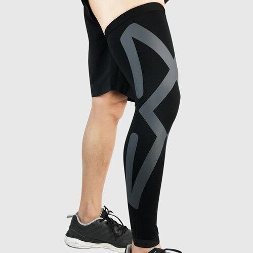 Новинка 1 шт. взрослые футбольные наколенники ножка поддержка рукав баскетбол наколенники колено протектор Поддержка икр Kneecap Спортивная безопасность - Цвет: black gray
