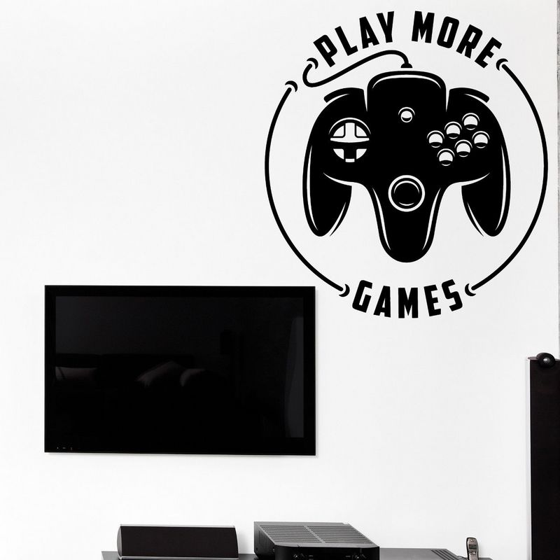 Game Room Handle Sticker Gamer Decal Gaming Posters Gamer Vinyl Wall Decals Parede Decor Mural Video Game Sticker