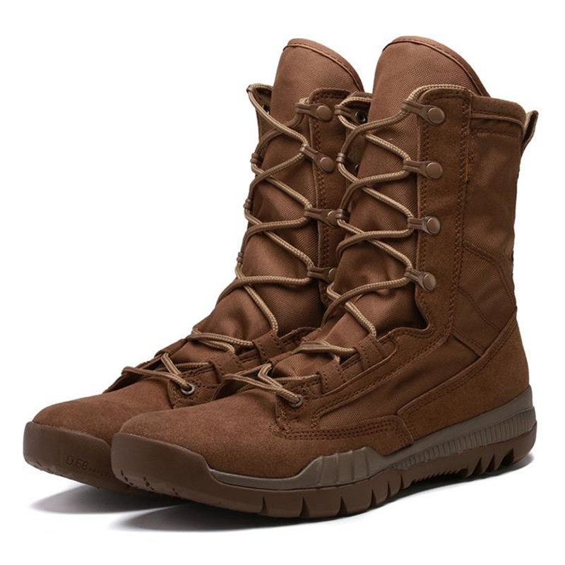 Spring Autumn High Tube Leather Breathable Military Tactical Boots Outdoor Training Climbing Hunting Jungle Desert Combat ShoesSpring Autumn High Tube Leather Breathable Military Tactical Boots Outdoor Training Climbing Hunting Jungle Desert Combat Shoes