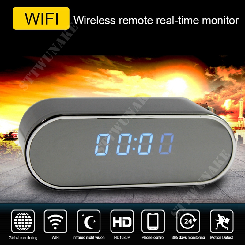 Mini caméra wifi caméra IP hd caméra secrète micro petit 1080 p sans fil videcam maison horloge STTWUNAKE Protection espion magasin autorisé