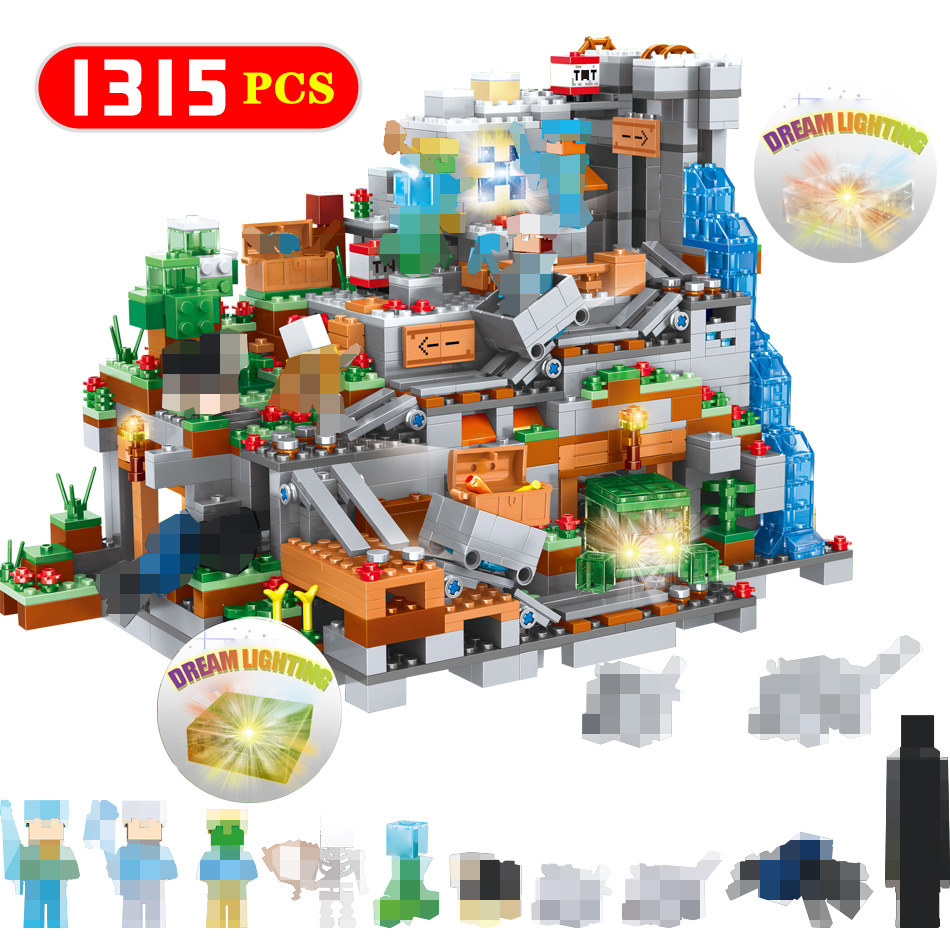 New Organs Of The Cave Blocks 3D Dream Lighting Compatible LegoINGLYS Minecrafted Mini Sets Figures Building Bricks Toy Gifts-in Blocks from Toys & Hobbies