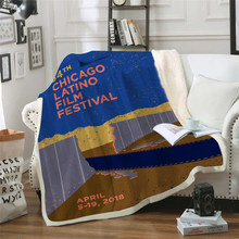 Landscape Throw Blanket Poster Adult Wearable Plush Soft Office Quilts Drop Ship Brand Fashion Travel Picnic 3D Printed(China)
