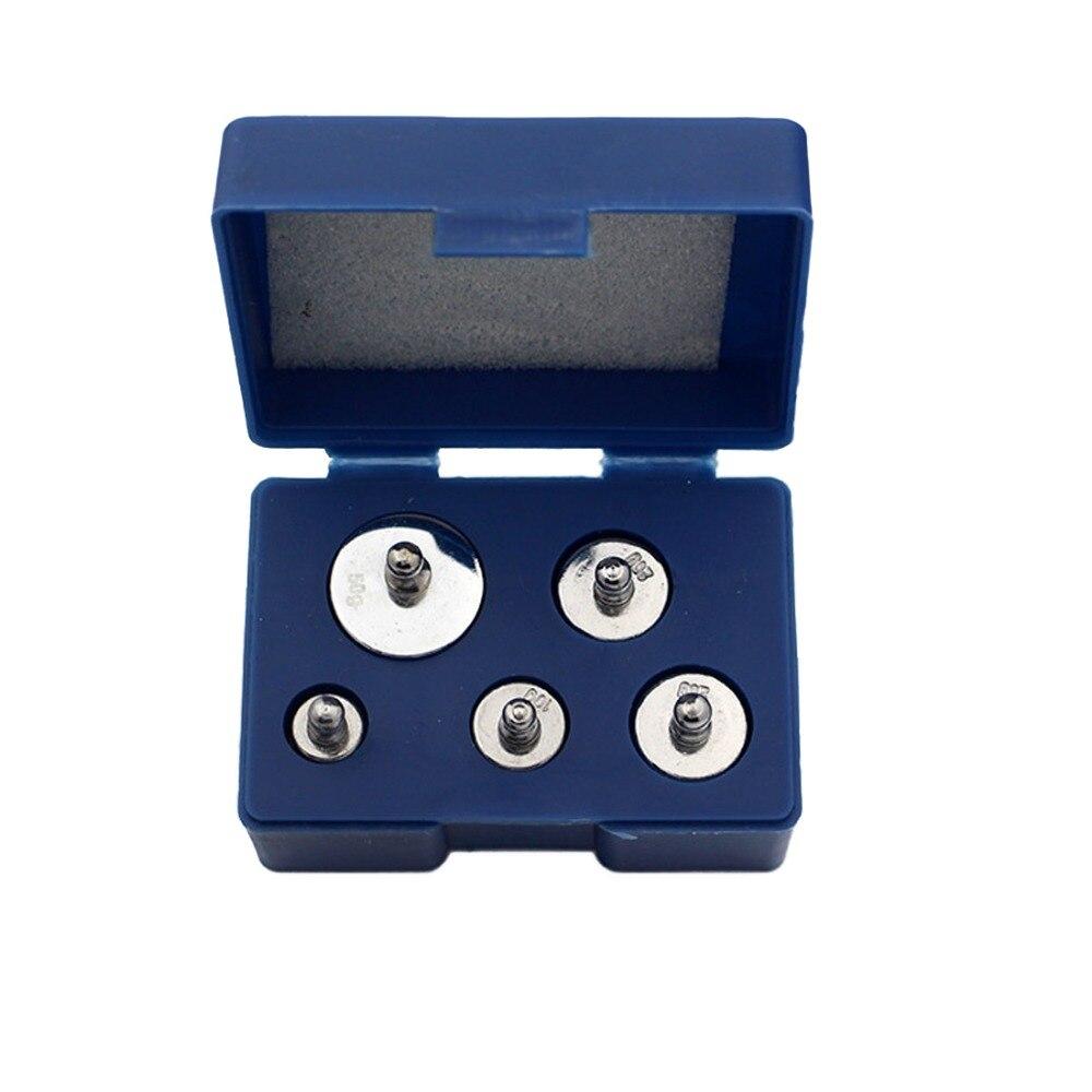 Le système d'équilibre 5 pièces/ensemble de calibrage de précision ensemble de poids d'échelle de chromage 1g 2g 5g 10g 20g grammes pour l'outil à la maison
