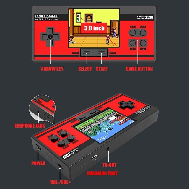 RS88 Familie Tasche Spielkonsole Retro Tragbare Mini Handheld Spiel Player Eingebaute 348 Klassische Spiele 3,0 Zoll Farbe LCD Für NES G