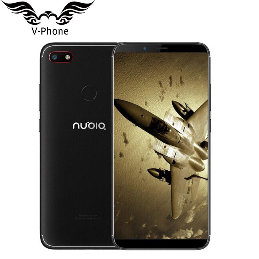D'origine ZTE Nubia V18 Mobile Téléphone 4 gb RAM 64 gb ROM 6.01 Snapdragon 625 Octa Core Plein Écran visage ID 4000 mah 13MP Smartphone