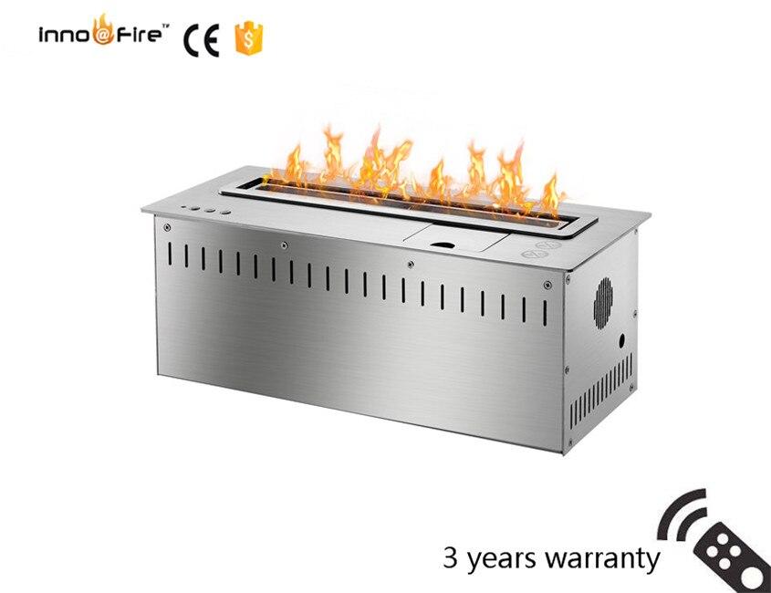 18 Inch Long Remote Control Intelligent Black Or Silver Wifi Ethanol Fire Burner