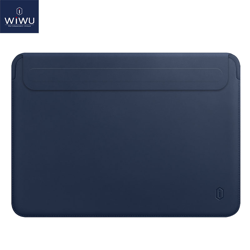WiWU Laptop Sleeve for MacBook Pro 13 15 Water resistant Laptop Bag Case for MacBook Air 13 PU Leather Notebook Sleeve Case 15