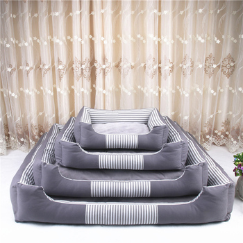 Plus Waterproof Bottom Pet Bed for Large Dogs Canvas Detachable and Washable Dog Bed Mat Soft Warm Kennel Pet Dog Bedding Sofa