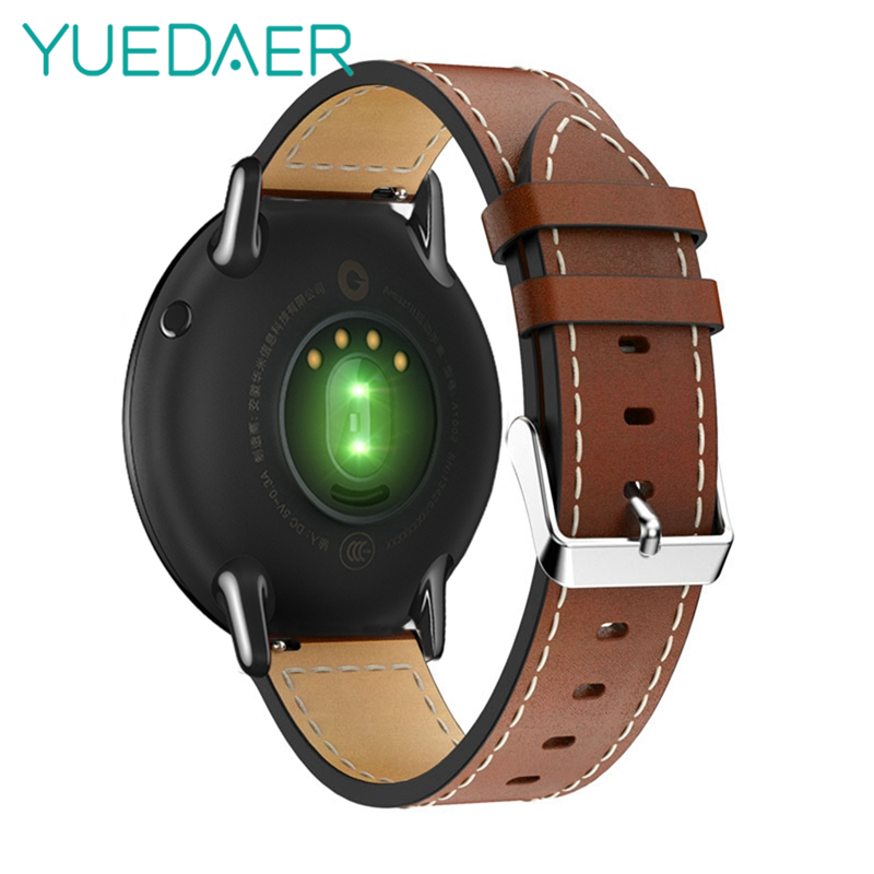 YUEDAER Genuine Leather Strap for Samsung Gear S3 classic watch band 22MM For Xiaomi Huami Amazfit Pace Bracelet for Stratos 2 amazfit leather bracelet watch band 22mm for xiaomi huami amazfit pace stratos 2 correa wrist strap for samsung gear frontier s3