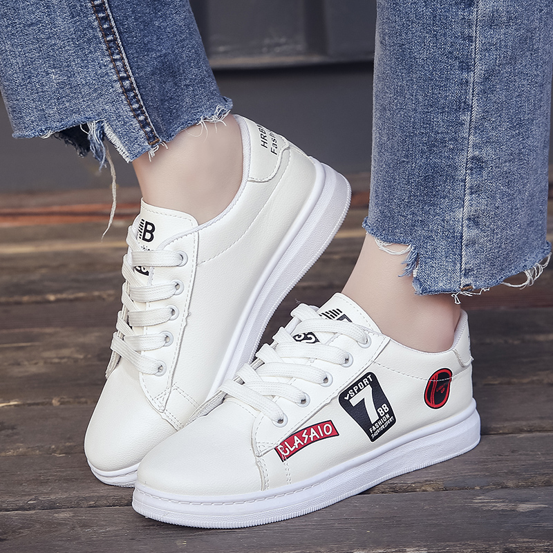 Women Shoes 2018 Spring Fashion Lace-up Comfortable Casual Shoes Woman Breathable Women Sneakers Printing Tenis Feminino Shoes casual shoes woman sneakers 2018 new spring fashion with breathable mesh women shoes tenis feminino light lace up shoes ladies