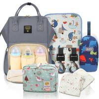 Mummy bag diaper bag large capacity fashion travel baby care bag trolley multifunction