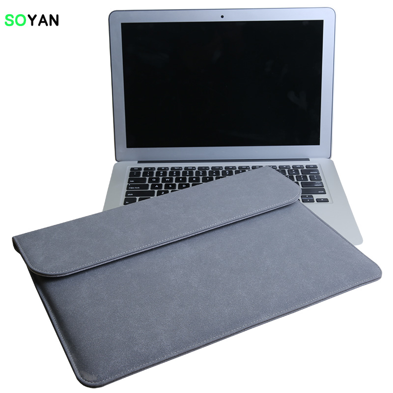 New Leather Sleeve Bag For Apple Macbook Air 11 Retina 12 15 Laptop Case Pro 16 13 inch A1990 A1932 For Xiaomi Air 13.3 Cover