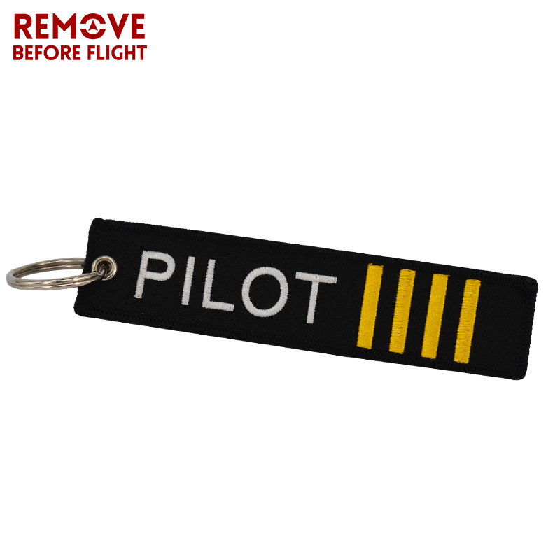 Remove Before Flight OEM Key Chain Jewelry Safety Tag Embroidery Pilot Key Ring Chain for Aviation Gifts Luggage Tag Label7