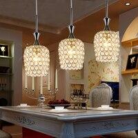 현대 간단한 led 크리스탈 레스토랑 램프 3 크리 에이 티브 바 따뜻한 조명 램프