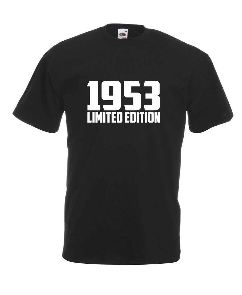 1953 Limited Edition White Text Cool T-SHIRT ALL SIZES # Black