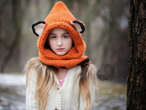 Kinder Fuchs Hut Fuchs Hoodie Fuchs Gugel Tier Hut Mit Kapuze Schal