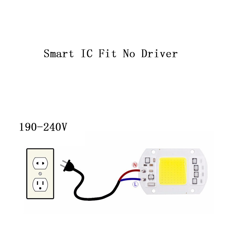chips bulb no need driver 50w 30w 20w 230v 220v 240v smart ic driver fit for diy led floodlight spotlight real power in led bulbs tubes from lights  [ 1000 x 1000 Pixel ]